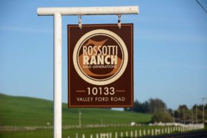 Rossotti Ranch sign